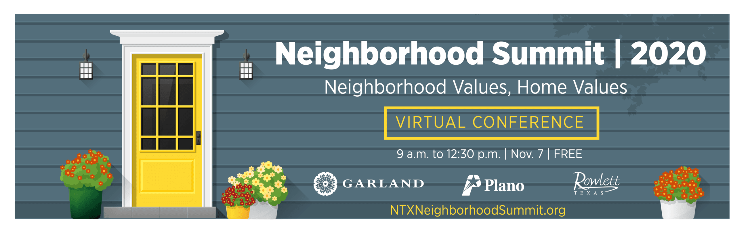 2020 Neighborhood Summit, Saturday, Nov. 7, 9 a.m. to 12:30 p.m. | Virtual Conference | FREE