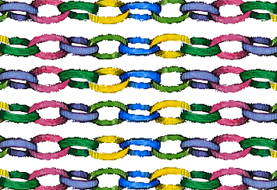 Rows of paper chains